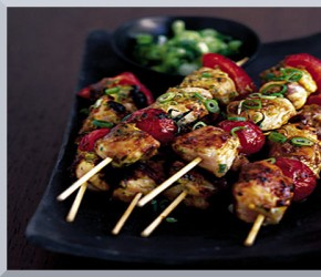 Personal Gourmet Chicken Kabobs with Veggies
